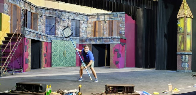 """Venice Theatre resident scenic designer Tim Wisgerhof on his set for a production of the musical """"Young Frankenstein."""""""