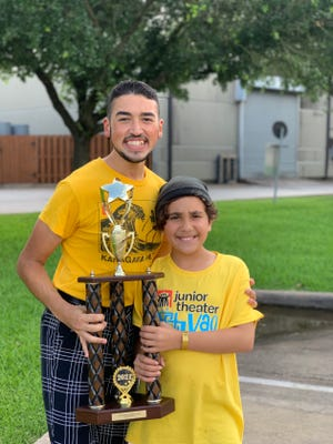 Marcus Cruz and Willa Carpenter, students at Spotlight Theatre Productions in Sarasota, earned honors at a junior theater festival in Texas.