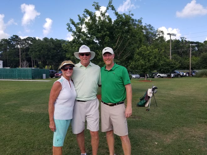 The Whitehursts, from left: Pam, Tony and Scott Whitehurst on Sunday at the Savannah City Amateur Championships at Bacon Park Golf Course.