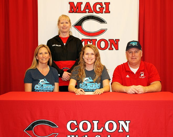 Brenna Fisher of Colon will continue with academics and softball at KVCC.