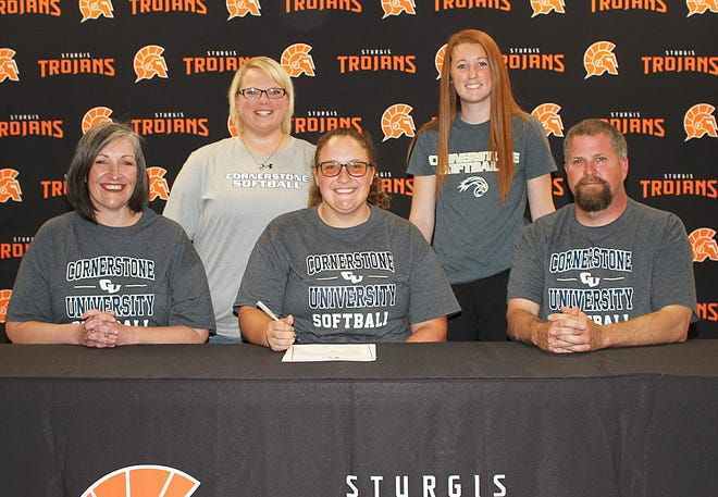 Morgan Miller of Sturgis will continue her academic and softball pursuits at Cornerstone University.