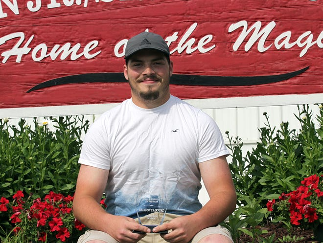 Brandon Crawford of Colon is the Sturgis Journal 2021 Corky Emrick Memorial Male Athlete of the Year.