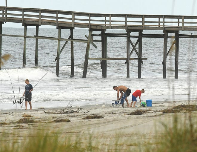 A shark reportedly bit a 7 year old girl swimming at the beach Sunday.