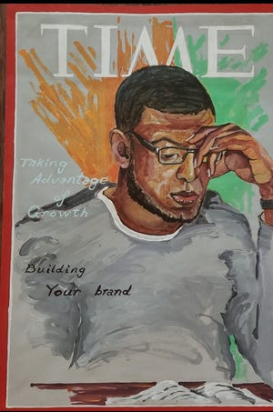 A portrait of Joseph Jones was created by one of his fellow inmates at Larned Correctional Facility. Jones was one of five commutations approved by Gov. Laura Kelly last week.