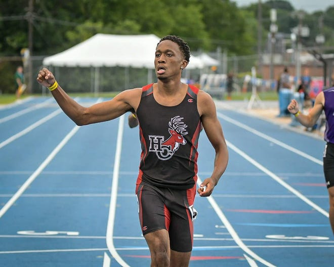 Hoke County senior Jadarien Parker snagged two medals at the NCHSAA 4-A state championship meet in Greensboro, including a gold in the 200-meter dash.