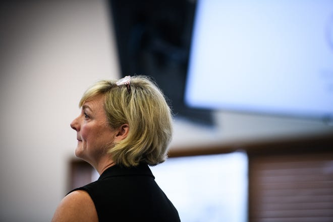 Susan McCullen, the Local Government Commission's director of fiscal management section, spoke to Spring Lake's Board of Aldermen at a meeting Monday, Aug. 9 on managing the town's finances.