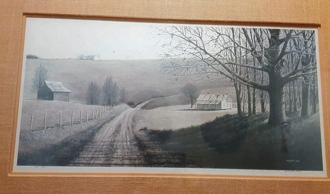 """""""This is My Country,"""" a  lithographic print by Wellington Ward."""