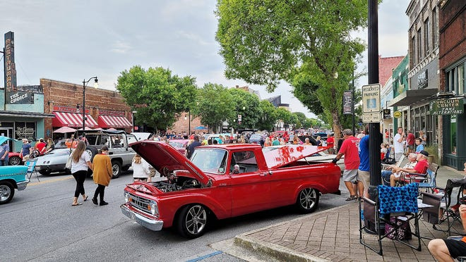 A crowd estimated at 10,000 turned out June 4 for the first First Friday of 2021. The July event is set for Friday.