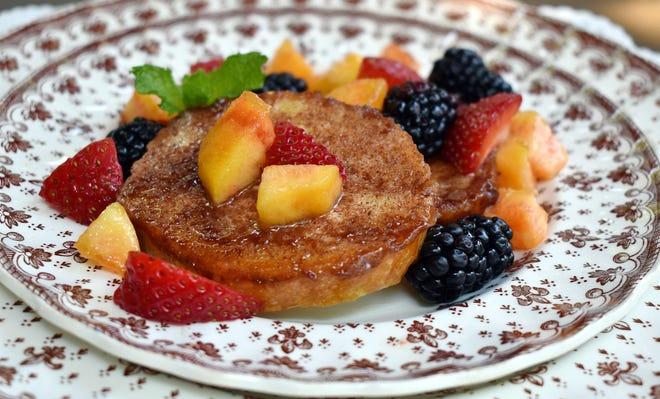 Orange Cinnamon French Toast with fresh fruit