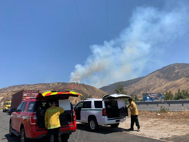 San Bernardino County Fire and San Bernardino National Forest are in unified command on the Peak Fire, which is burning near San Bernardino.