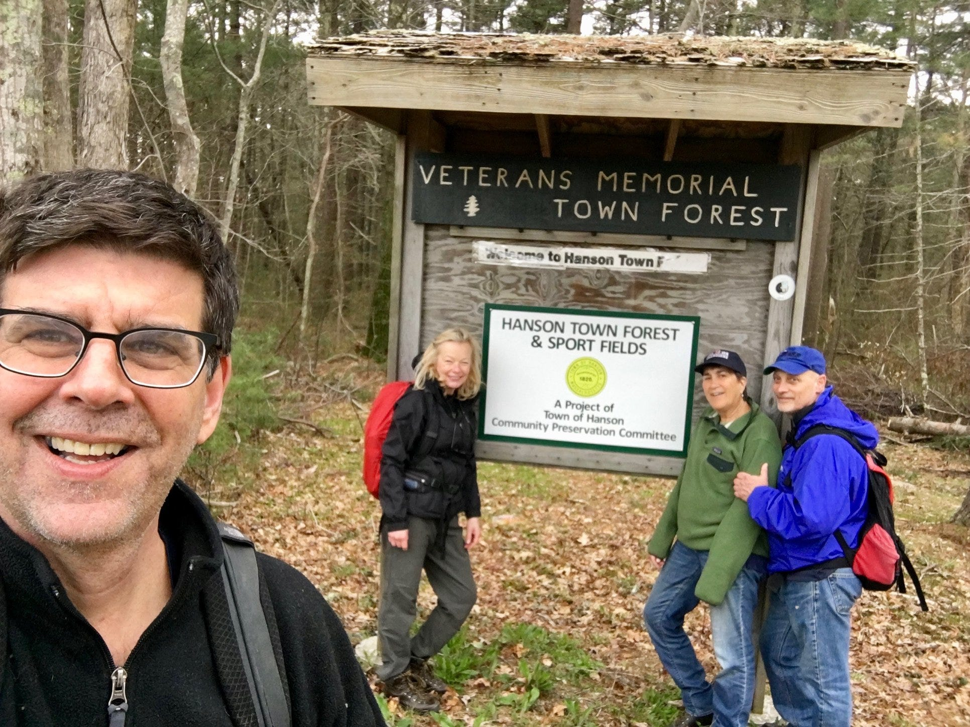 Author Rich Harbert takes a selfie with his hiking mates.