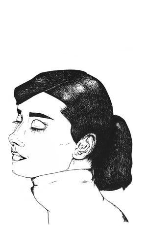 Audrey Hepburn for ink transfer.