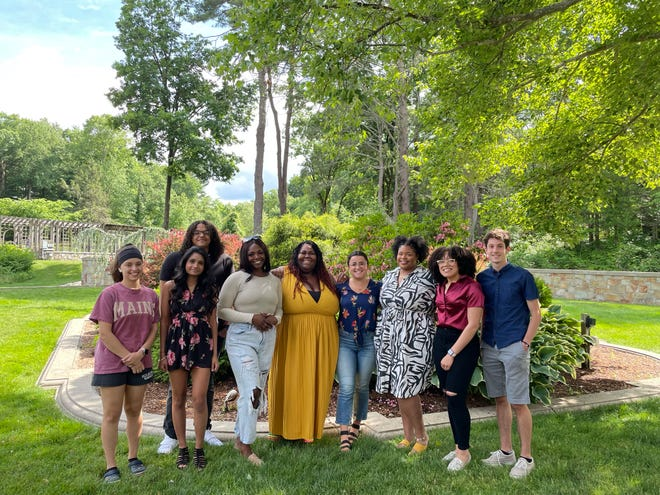 Raising Multicultural Kids, an educational based nonprofit located in Easton, hosted its first scholarship and appreciation event June 12 at the Queset. Pictured, from left, are Courtney Harmon, Anika Prasad, Jonathan Cabral, Hannah Shilakowsky, Shanteria Crawford, Claudia Ferrara, Zahara Townsend, Chantel Almanzar and Cameron Morro.