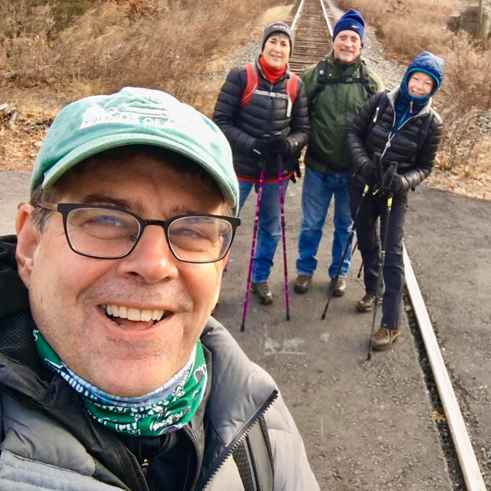 Rich can't get enough selfies on their 32 day trek.