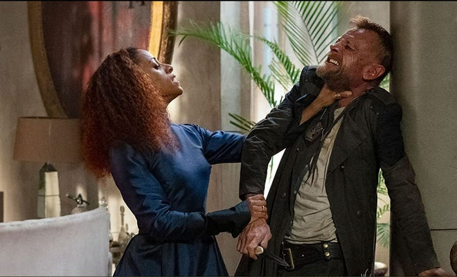 """Lara Rossi and Richard Dormer star in """"The Watch."""""""