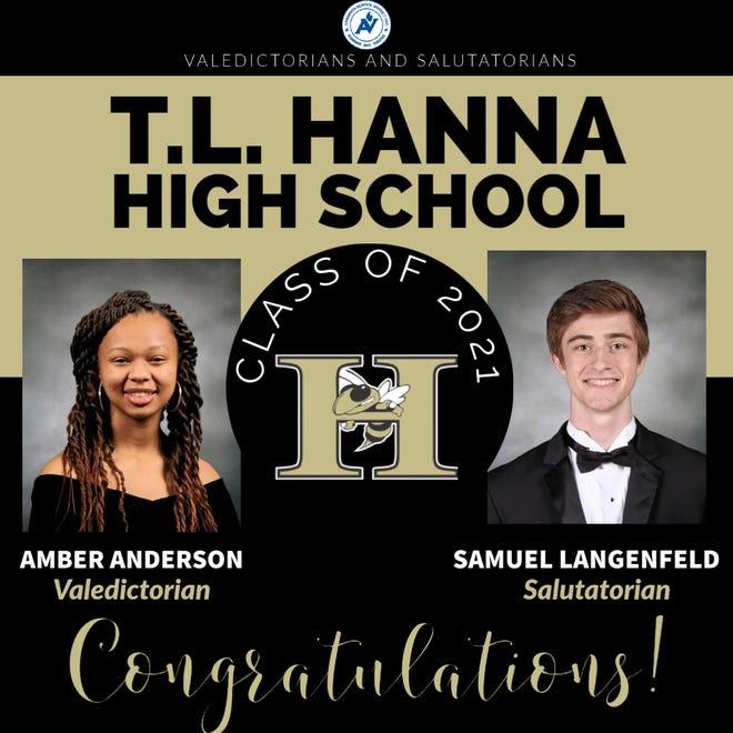 Valedictorian Amber Anderson and Salutatorian Samuel Langenfeld