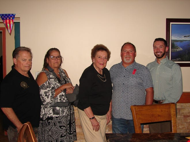 The Mountain Home Elks Lodge inducted five new members June 21 at the Mountain Home Clubhouse. Pictured, from left: Rick Piro, Sandra Forbert, Dorothy Sjoblom, Rob Finley and Matthew McNelley.
