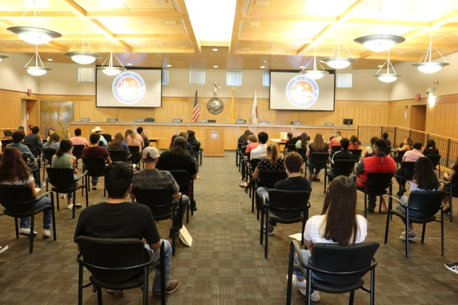High school students attend orientation for Doña Ana County's Summer Enrichment Internship Program on June 18, 2021. Over 500 students have been placed in positions around the county.