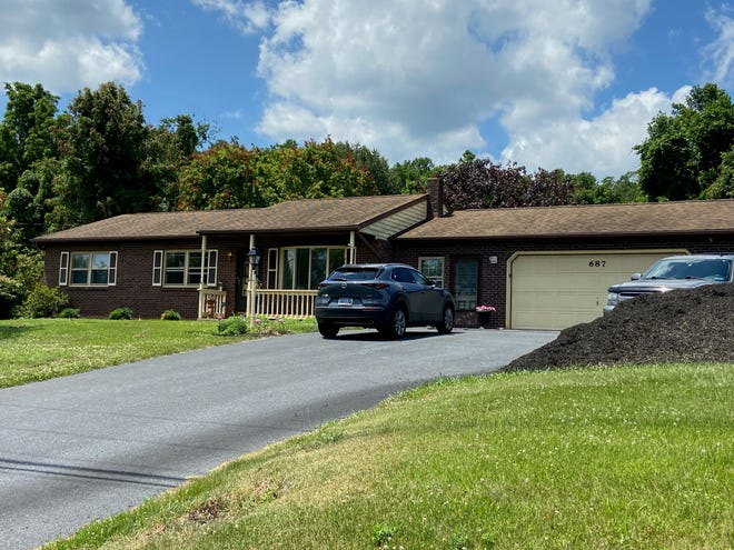 Catherine Hartman was found dead in this home in the 600 block of Pleasant View Road in Fairview Township on Saturday, June 26, 2021. Police said Hartman had been shot multiple times. Brandon Addeo photo