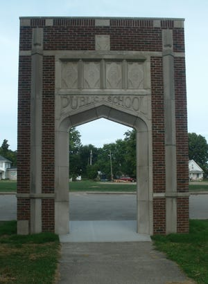 This public school arch on highway 1 in Milton once fronted a popular educational facility that was built in 1923. The former Milton School building served as a centerpiece of life in the town and was torn down in late March of 2019. The stone arch entryway that survives marks as a reminder of community life that lasted much of the 20th century.