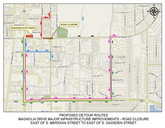 Parts of Magnolia Drive will be closed starting in early July as infrastructure and road work in the area continues.