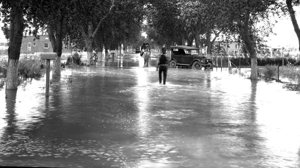 Flooding, 2-3 Sep 1925.