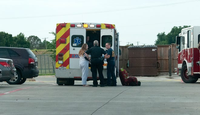 Wichita Falls police and emergency medics responded to the scene of a dog attack Monday morning at an apartment complex on Fairway Boulevard.