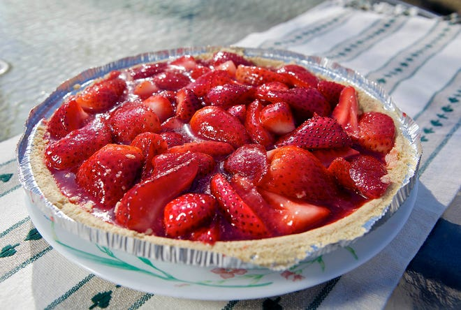 Fresh strawberry pie from berries picked in the family's patch was a favorite of Jerry Apps.