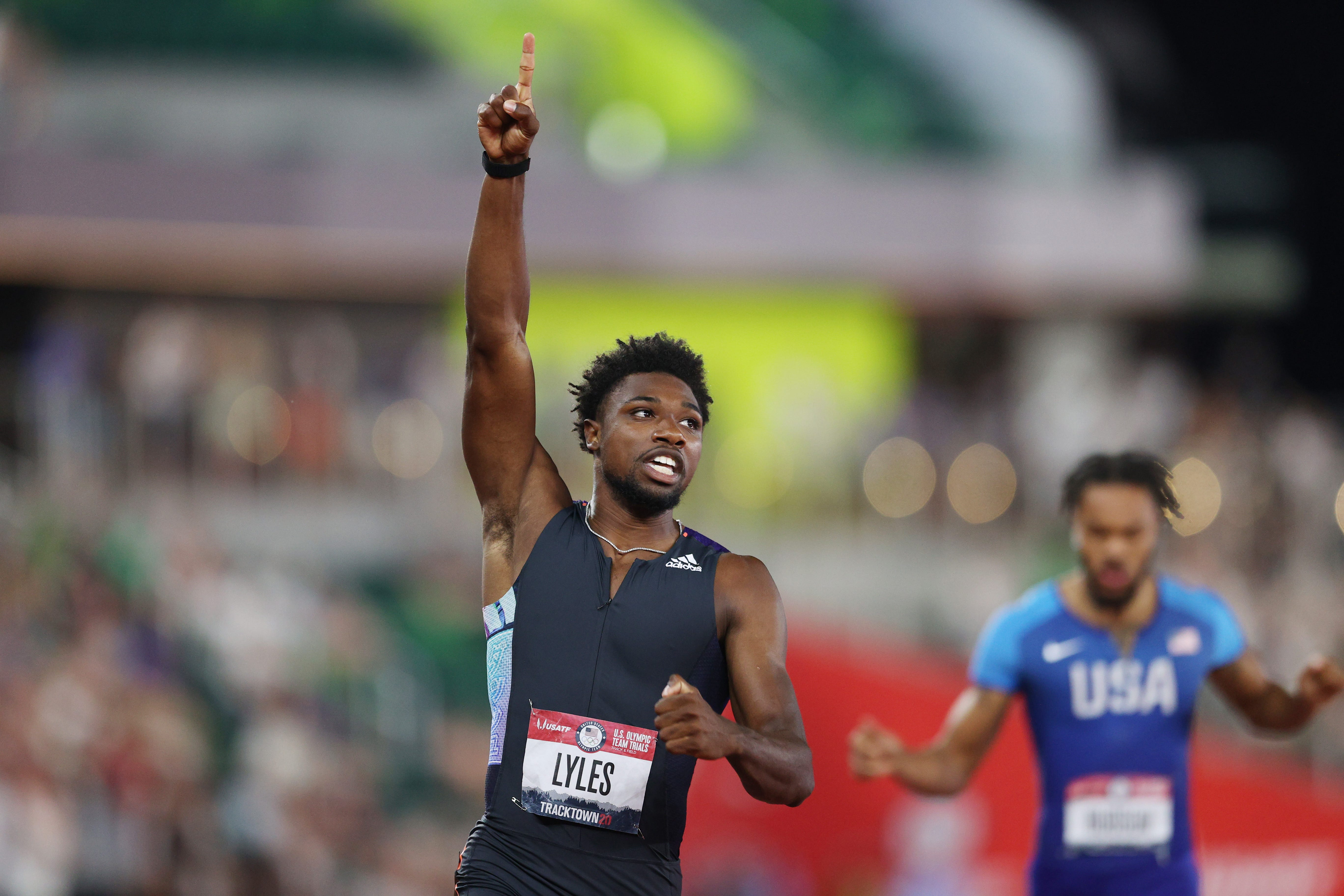 Noah Lyles wins 200-meter dash at U.S. Olympic track and field trials in world-leading time