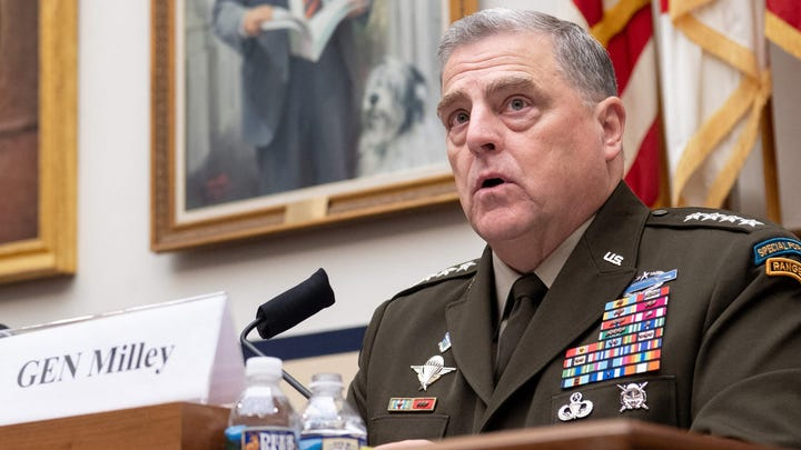Gen. Mark Milley, chairman of the Joint Chiefs of Staff, testifies on Capitol Hill on June 23, 2021.