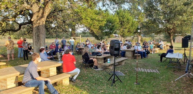About 75 residents showed up to the Rosanky Community Center on Oct. 19, 2020, to learn about the proposed $190 million solar farm project south of Rosanky on Jeddo Road.