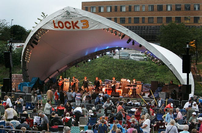 The city plans concerts and activities this summer at Lock 3 in downtown Akron.