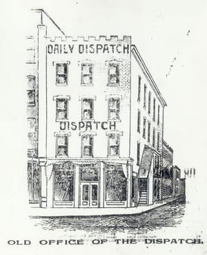 The original home of The Columbus Dispatch was at 26 N. High St. at Lynn Alley.