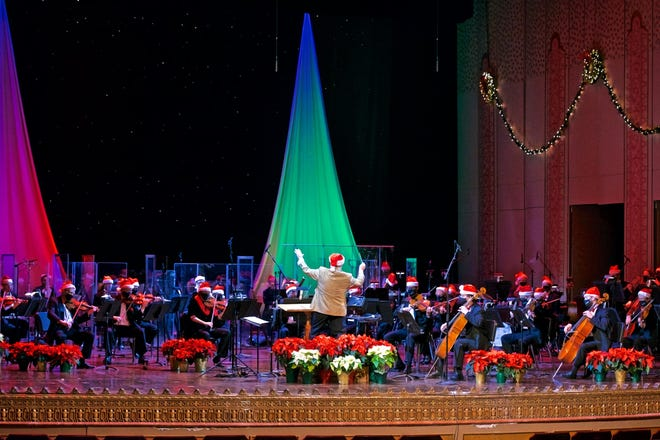 """The Columbus Symphony performing during the """"Holiday Spectacular."""""""
