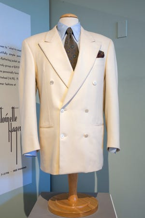 """As the character John Gage, Robert Redford wore this (white, double-breasted) suit in """"Indecent Proposal"""" (1993). Suit designed by Cerruti 1881."""