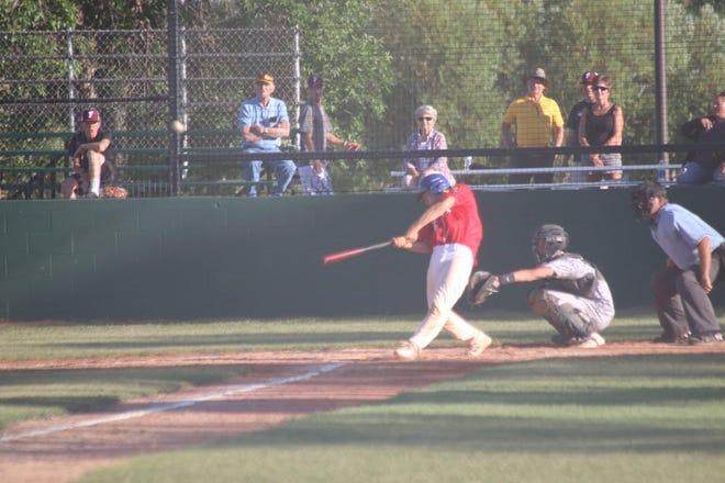 Ashton Larson at bat
