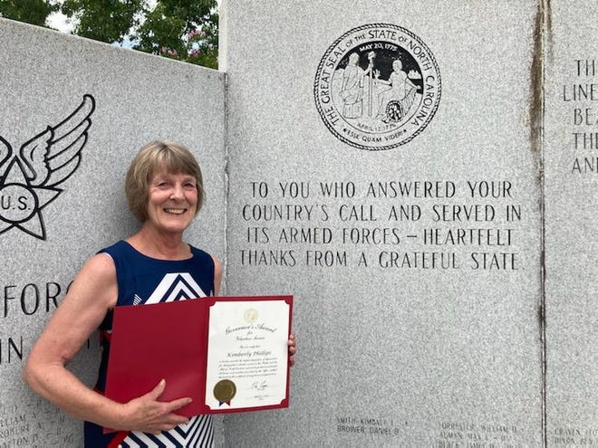 Red Cross volunteer Kimberly Phillips is happy to have helped the many veterans and their families in Randolph County,