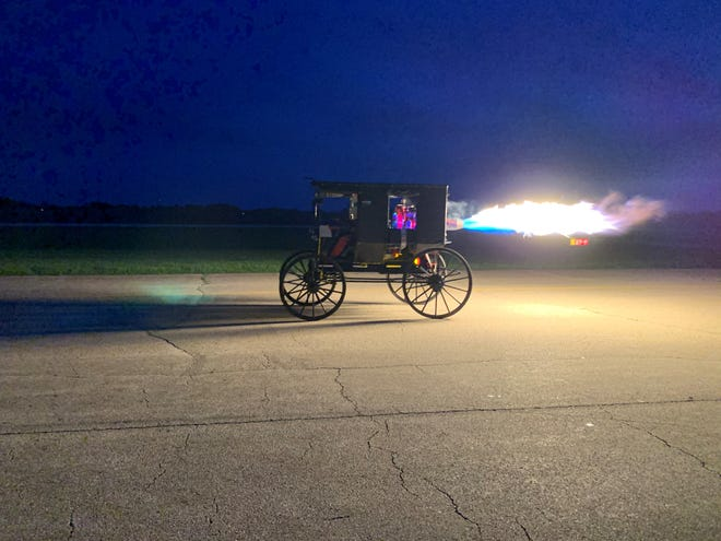 """Thunder Buggy, a vehicle made by a couple of Millersburg friends, will be featured on """"Big Kenny's Crank It Up Garage"""" at 8:30 p.m. July 8 on  Circle TV."""