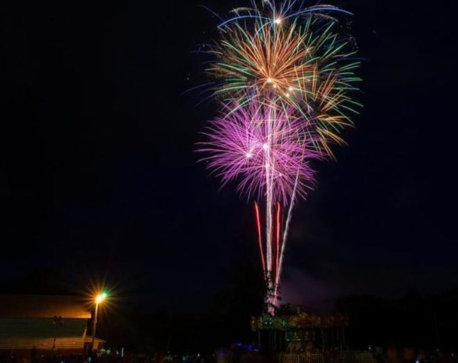 Thousands of celebrants watch the fireworks show at the end of the City of Lexington's Fantastic 4th Celebration at the Davidson County Fairgrounds in 2017. For the second year in a row, the city will not be hosting a fireworks display.