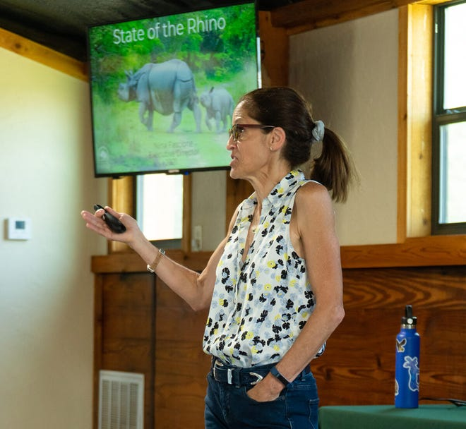IRF Executive Director Nina Fascione explained the poaching threats facing each of the rhino species. It is a crucial consideration in rhino conservation.