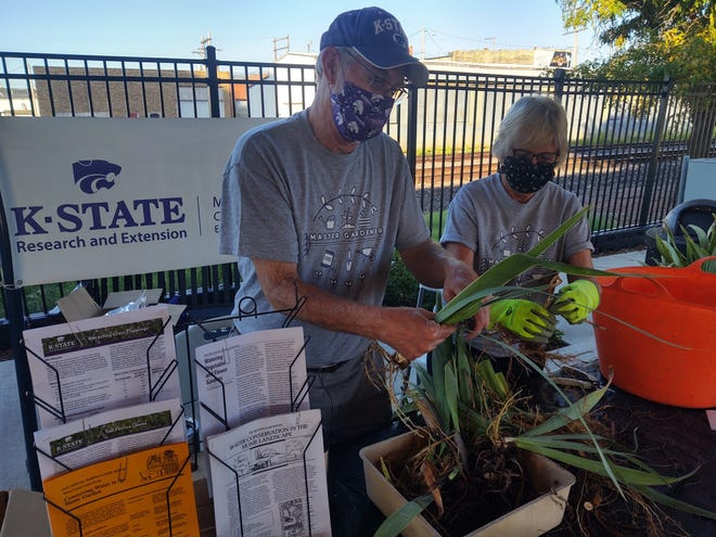 The Master Gardeners of Ellis County, Cottonwood District, are present the second Saturday of the month when the Downtown Market is open.