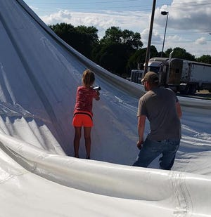 Friends of the Harvey County ERT put up their fireworks tent on June 26, part of the group's annual fund-raising efforts for the ERT. This year 12 permits for fireworks tents were filed in the city of Newton.