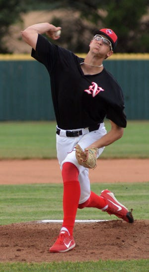 Newton Rebel pitcher Carson Jacobs faces the Wichita Vipers Monday at Klein-Scott Field. Jacobs claimed the win pitching, combining with Brady Kreutzer to throw a no-hitter.