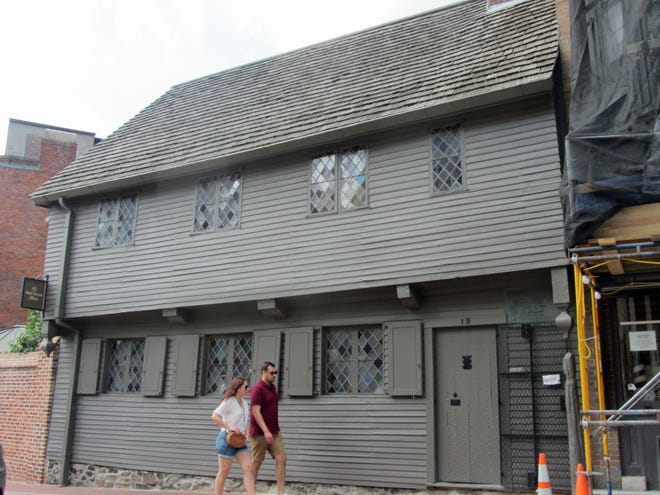 This was once the home of Paul Revere in the North End. Revere was a silversmith, most noted for his midnight ride to warn Colonists of the movement of the British troops.