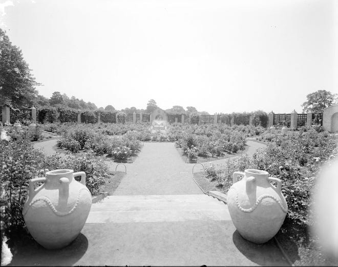 Here is what the rose garden at the Franklin Park Zoo looked like in 1926. This is from the Leon Abdalian Collection at the Boston Public Library. Learn more from Digital Commonwealth at www.digitalcommonwealth.org.