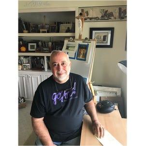 Chris Manaseri, artist and founder of Pittsforrd Fine Art.