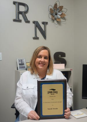 Spoon River College nursing educator Sarah Strode was the 2021 recipient of the H. Truman Standard Award for teaching excellence.