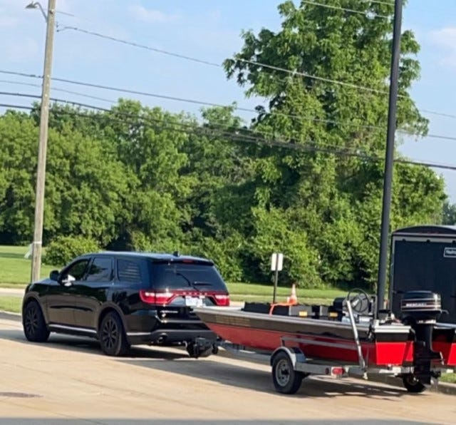The Huron Township Fire Department has a 16-foot boat it uses for water rescues.