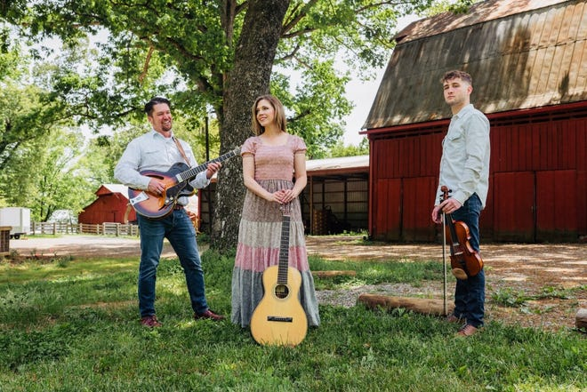 """Americana/bluegrass/country band WestWend will perform a """"Red, White, and Bluegrass"""" concert on Saturday, July 3, at 7:30 p.m. The free concert will take place on the front lawn of First United Methodist Church. Folding chairs will be provided, but concert goers are encouraged to bring lawn chairs or blankets. Light refreshments will be offered. Pictured are, from left, Jonathan Maness, Wendy Crowe and Cody Bauer."""
