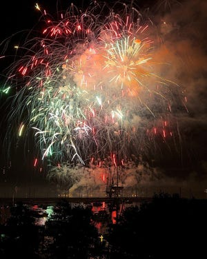 Fireworks in Plymouth are seen in this file photo.